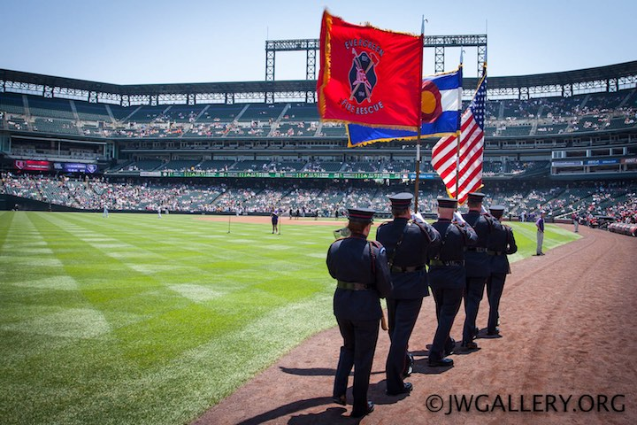 Elite Firefighters at Coors Field